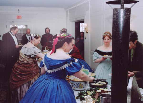 Costumed interpreters and guests at Civil War Banquet