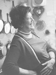 Julia Child in her kitchen, late 70s